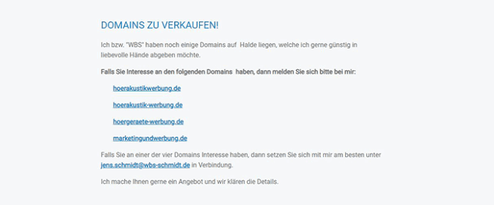 Domains zu verkaufen