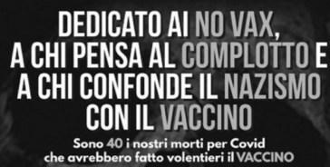 Alessandria, sindaco contro i no vax pubblica un manifesto con i nomi dei morti di Coronavirus
