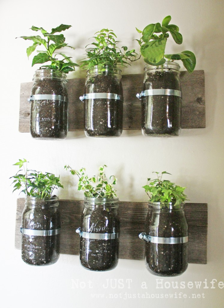 Lovely Mason Jar Herb Planter From Not Just A Housewife