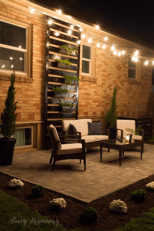 outdoor seating area diy paver patio