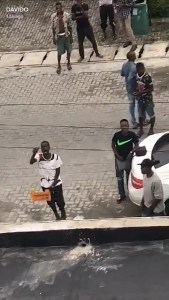 Davido Auditions Wannabe Singers Outside His Gate [Photos]