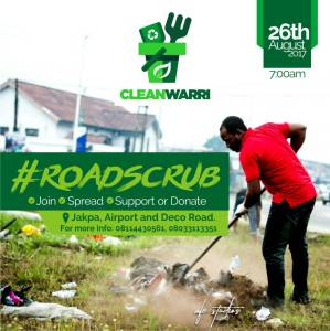 Advert: Clean Warri #roadscrub 26th August