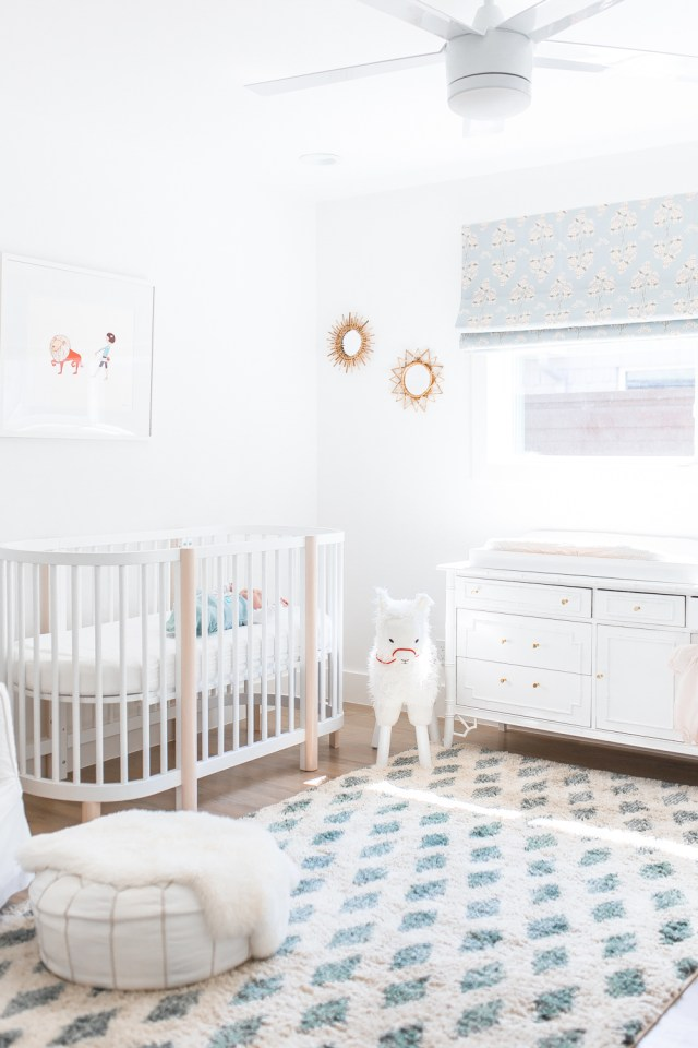 ANNABELLE'S NURSERY CREATING A NONTOXIC ROOM NOT MY CIRCUS Amazing Gold Pouf Nursery