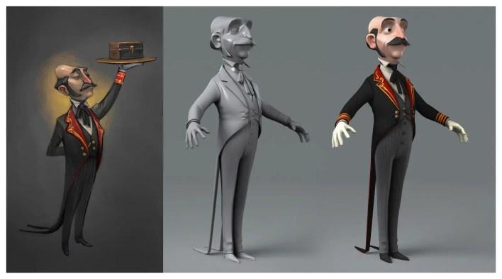 diseño de personajes 3d cortometraje