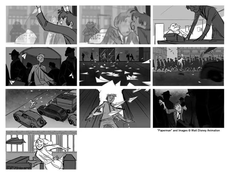 El Arte de Paperman - Making of, Storyboard, Diseño & Concept Art