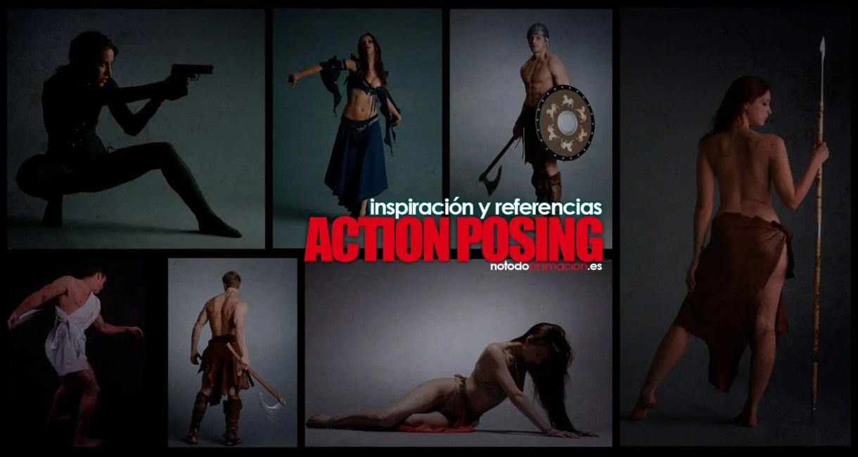 Inspiración y Referencias - Action Posing para Ilustración y Animación