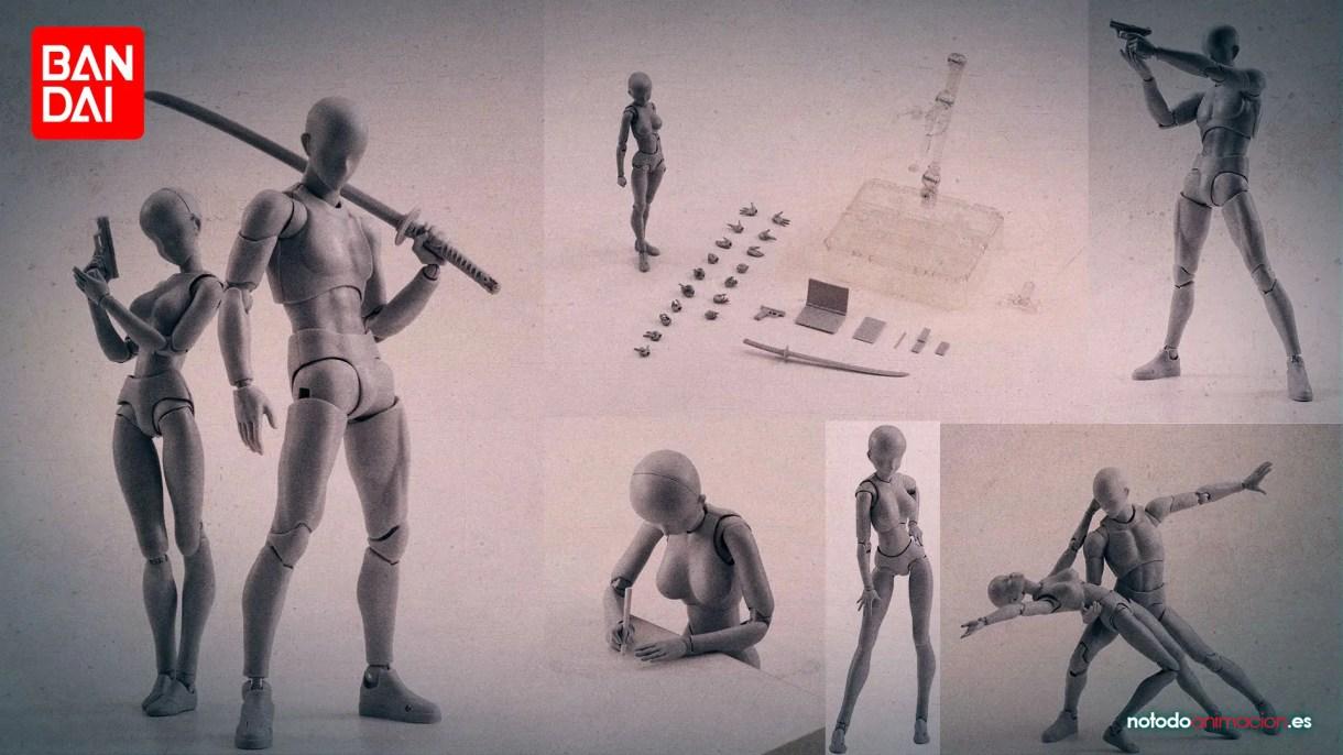 Body kun body Chan Bandai SH Figuarts - Maniquíes Articulados para dibujar - comprar amazon