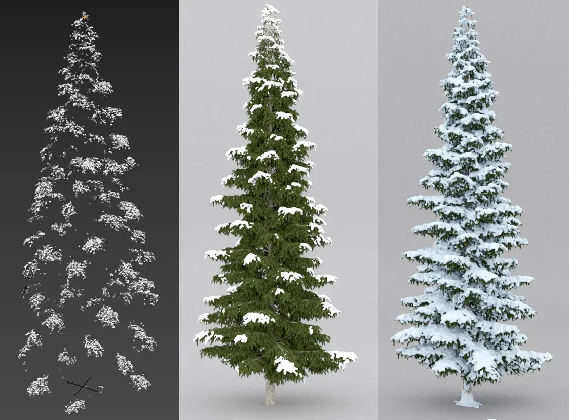 Tutorial Cómo crear Nieve arboles 3D Realista con 3ds max y Forest Pack