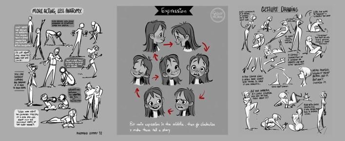 actitud actuacion principios diseño de personajes