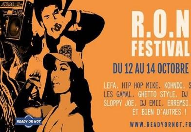 Le Ready Or Not Festival est de retour pour une 5ème édition du 12 au 14 octobre 2018