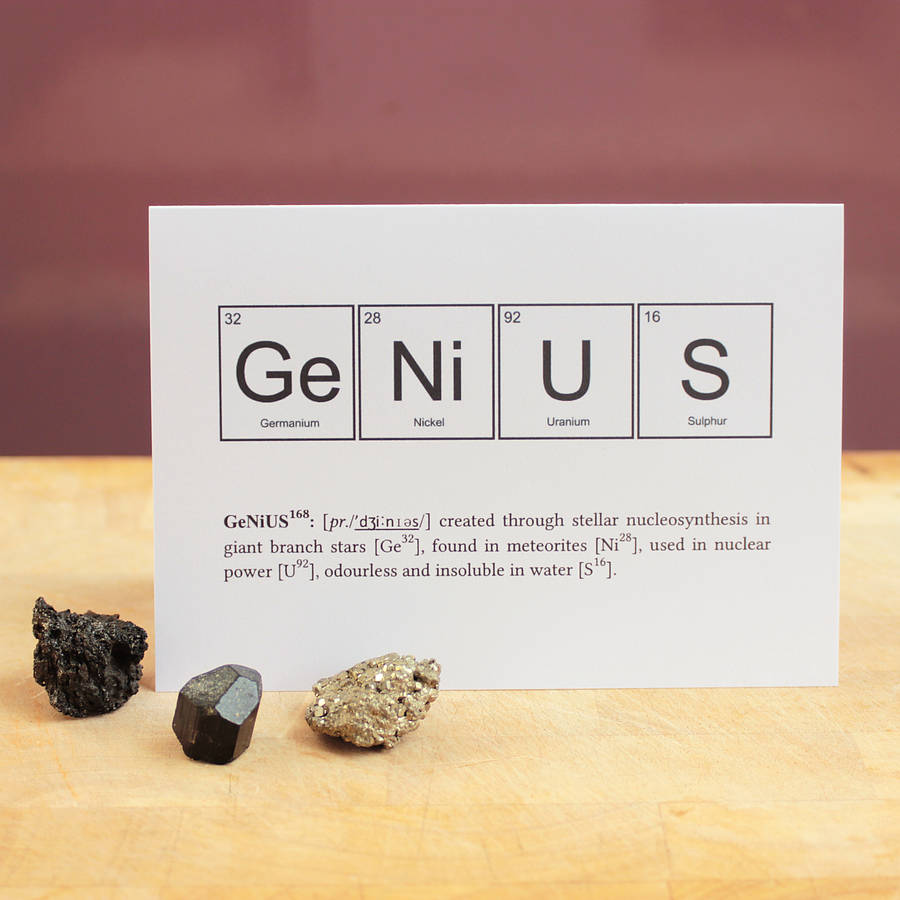 Nerd Or Genius Funny Periodic Table Cards By Newton And