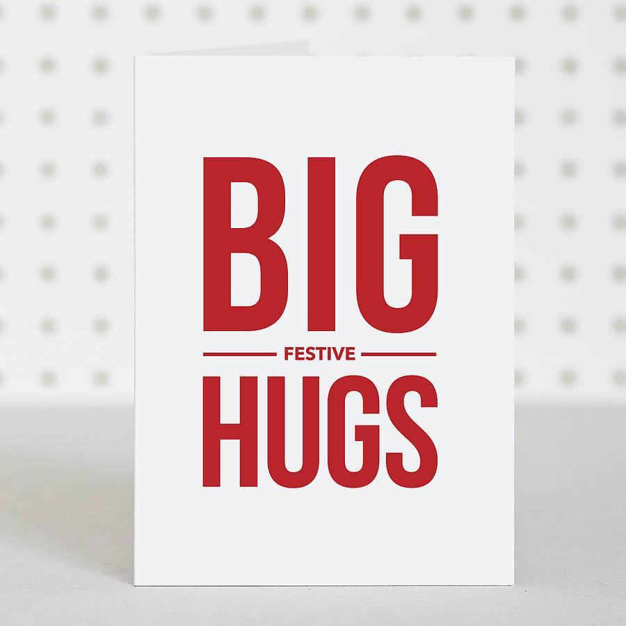 Big Festive Hugs Christmas Card By Doodlelove