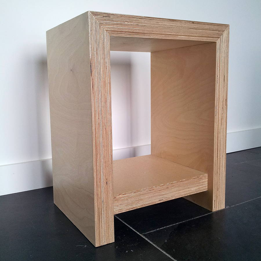 Chunky Plywood Bedside Table By Soap Designs