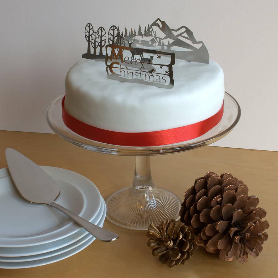 Set Of Three Metal Christmas Cake Decorations By Gilbert13