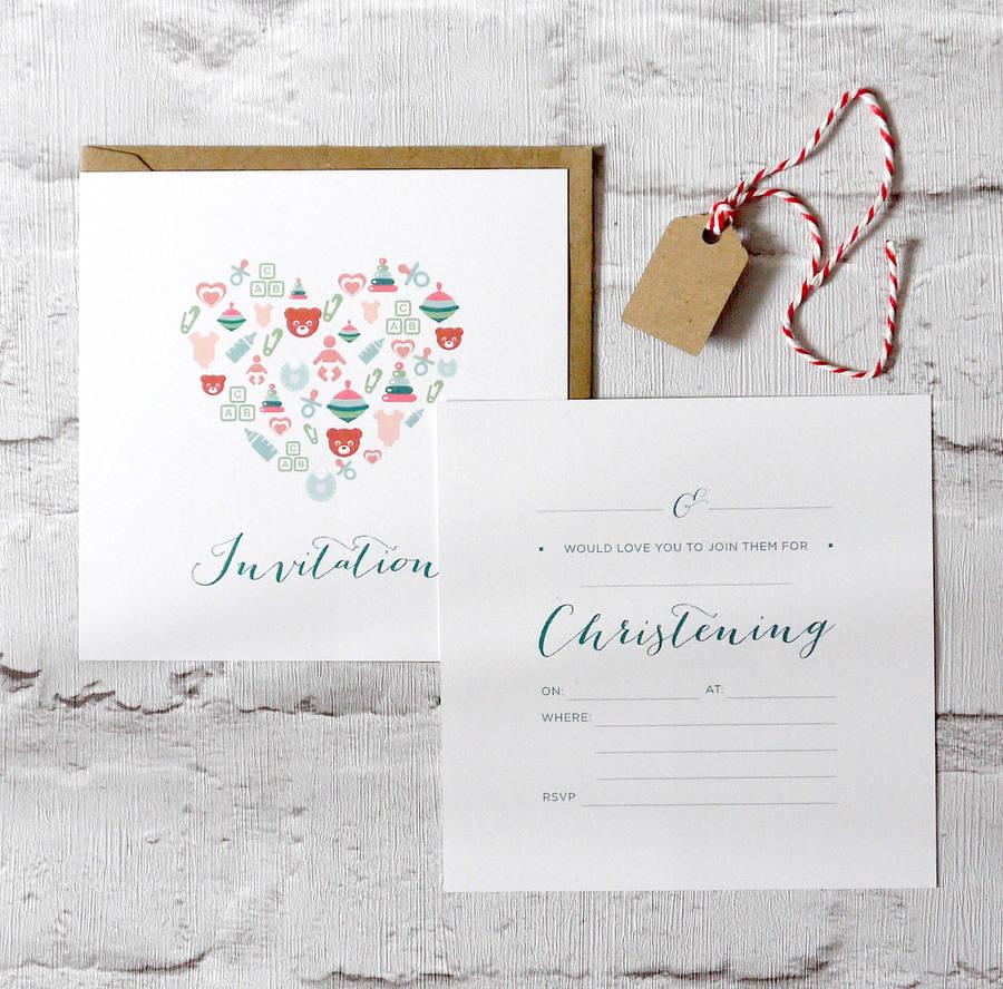 Cheap Christening Invitations Packs