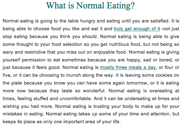 Image result for what is normal eating