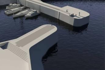 Port de la Flotte : projet porte à flots ouverte