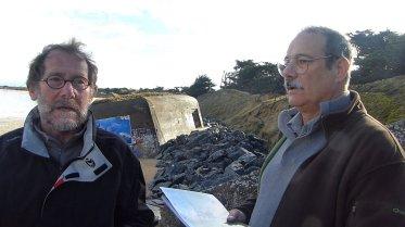 Didier Courtemanche (secrétaire) et Norbert Rizo (vice-président) de l'AVSCB