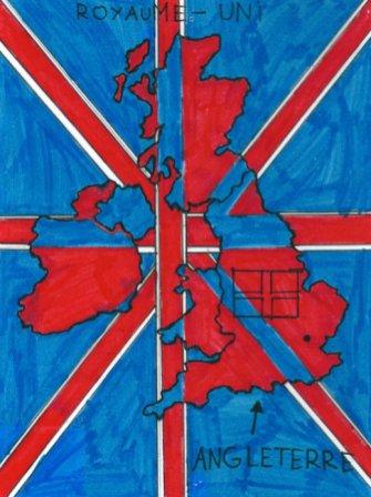 Je, tu, îles... Dessin Grande Bretagne