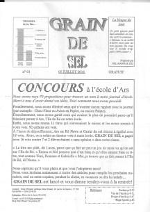 Journal de l'école d'Ars - N°1