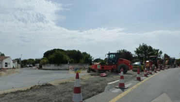 Travaux rond-point de La Couarde - 27 mai 2017