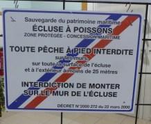 Ile de Ré - Panneau écluses à poissons - novembre 2017