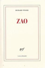 Livre Zao de Richard Texier - Gallimard
