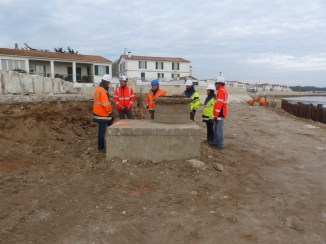 Rivedoux-Plage - Travaux digue - Equipe - 18 octobre 2018