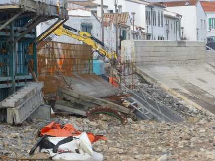 Rivedoux-Plage - Travaux digue -Muret gauche - 8 novembre 2018