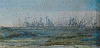 Laurent de La Hyre - Vaisseaux des Anglais en haute mer
