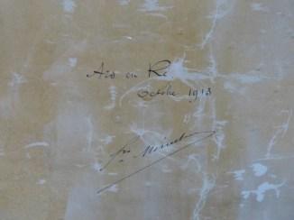 Carte des marais rétais - 1907