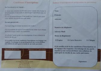 Bulletin adhésion pour adopter une ruche rétaise