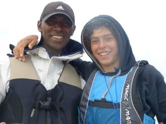 James et Paul sur bateau mouilleur - 24 août 2014