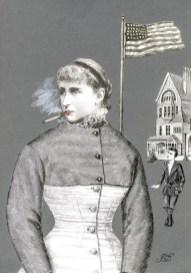 Francis Dumoulin - Femme à la vaporette
