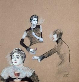 Francis Dumoulin - Femmes à la vaporette
