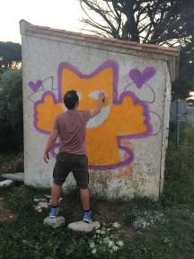 M.CHAT - Ars-en-Ré - Peinture - août 2014