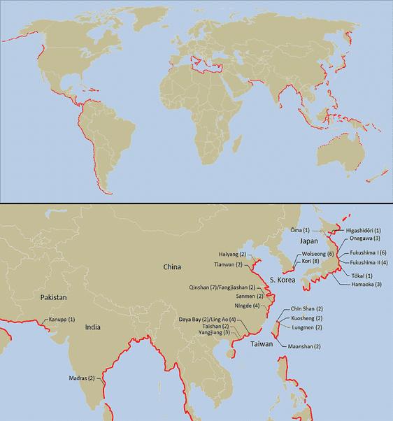 centrales nucléaires tsunamis