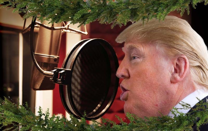 """Trump Records Christmas Single for Charity: """"White Power Christmas"""""""