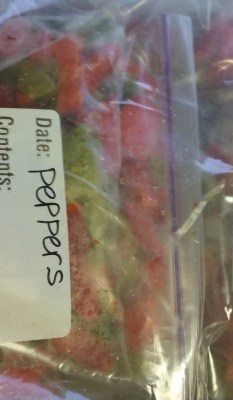 Store servings in a large freezer bag.