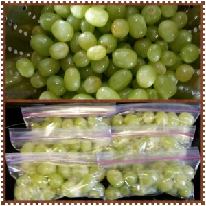 Wash grapes and store in individual servings!