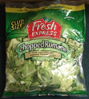 Pre-cut bulk lettuce