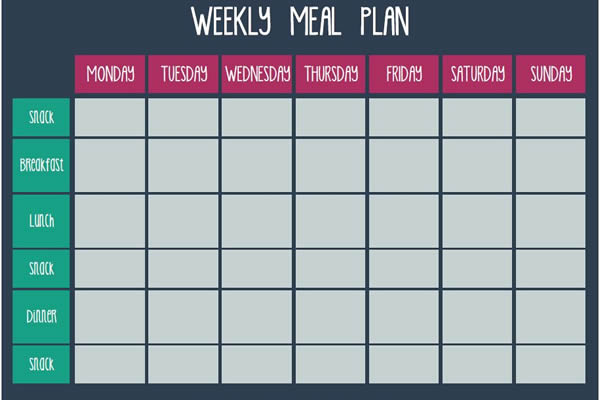 weekly meal planner templates free - Ecza.solinf.co