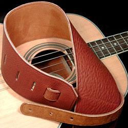 Italia Leather Straps: Acorn - Medium Brown Bass Strap