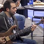 Jon Smith and Federico Malaman at NAMM 2011: Footprints