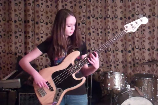 Cause We've Ended As Lovers: Tal Wilkenfeld Bass Cover by 13 Year Old Bassist