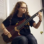 "Mina Burnside: 14 Year Old Bassist Tackle's Jaco Pastorius' ""Portrait of Tracy"""