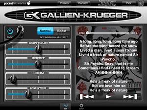 PocketGK Bass Guitar Amp iOS App