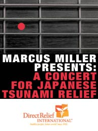 Marcus Miller Throws Concert to Benefit Japanese Tsunami Relief Efforts