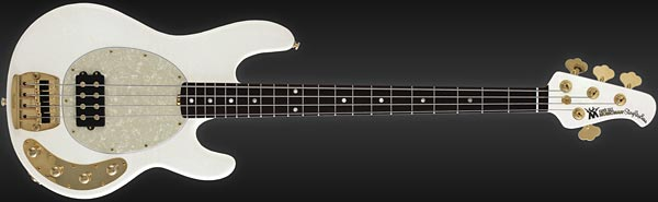 Ernie Ball/Music Man Limited Edition Gilded White Classic StingRay
