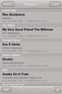 Robick playlist screen